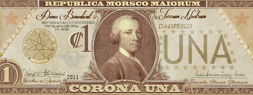 One Corona fictional banknote