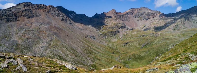 Pedertal, Madritschjoch, Hintere Schöntaufspitze (3.325 m), Pederspitze (3.295 m), Plattenspitze (3.425)