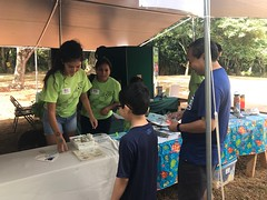 Employees from Hawaiian Electric volunteered at the 30th Annual Halawa Xeriscape Garden's Plant Sale: Our volunteers shared renewable energy facts and handed out Emergency Preparedness Handbooks.