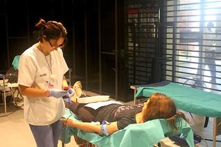 Donación de sangre en verano