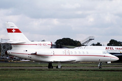 1983 Dassault Falcon 50 HB-IEC - London Stansted Airport 1983