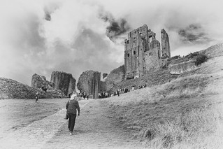 Walking Up To Corfe Castle