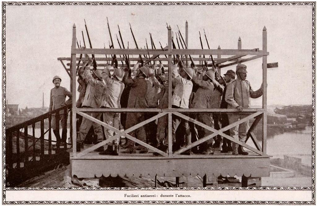 Venezia, WW1. Fucilieri antiaerei: durante l'attacco