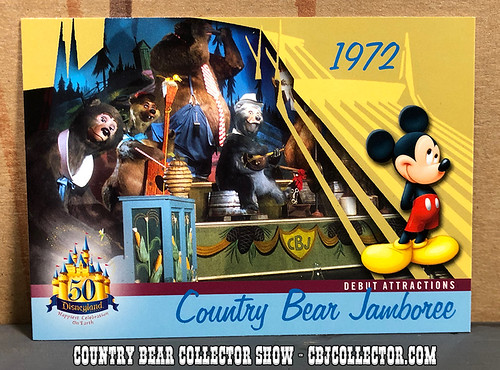 2005 Disneyland 50th Upper Deck Trading Card - Country Bear Collector Show #163