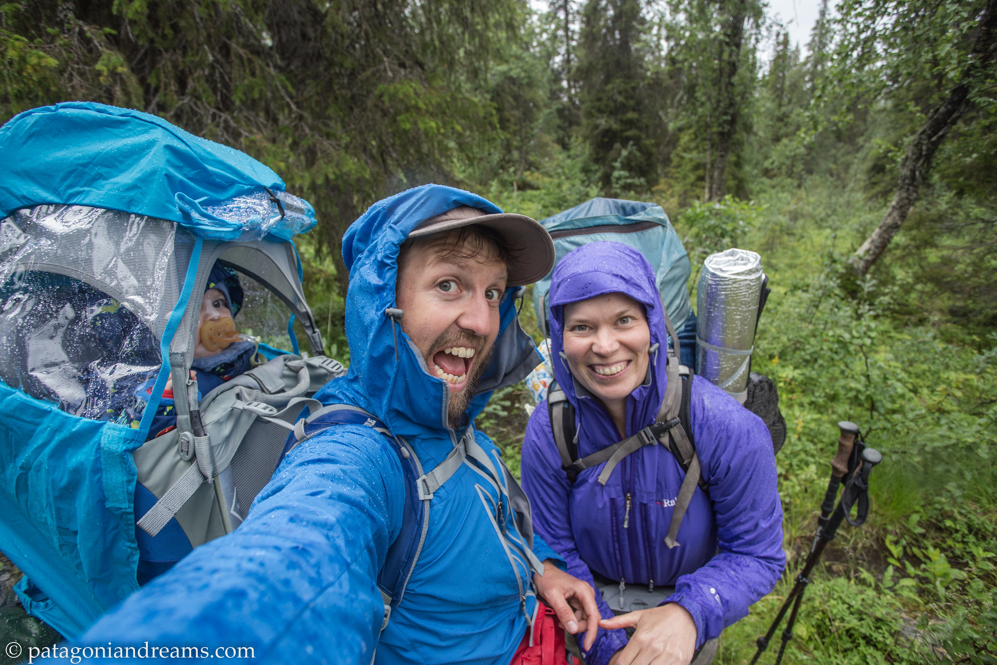 Rainy smiles! Sarek NP. Laponia. Swedish Lapland.