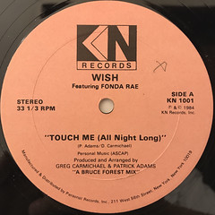 WISH FEATURING FONDA RAE:TOUCH ME(ALL NIGHT LONG)(LABEL SIDE-A)