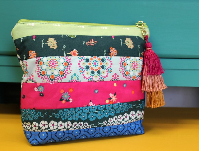 Loved to Pieces Zipper Pouch Bag Back