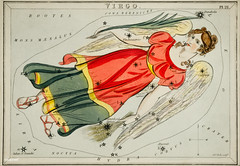 Sidney Hall's (1831) astronomical chart illustration of the Virgo. Original from Library of Congress. Digitally enhanced by rawpixel.
