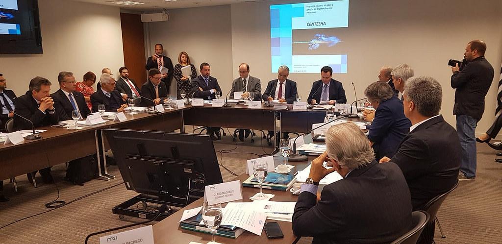 Ministro Gilberto Kassab participa da reunião do Comitê de Líderes da MEI. 10/08/2018. São Paulo-SP. Foto: Célio Soares/MCTIC.