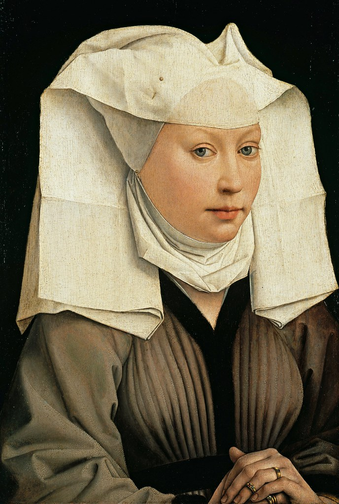 Rogier van der Weyden - Portrait of a Woman with a Winged Bonnet (c.1440)