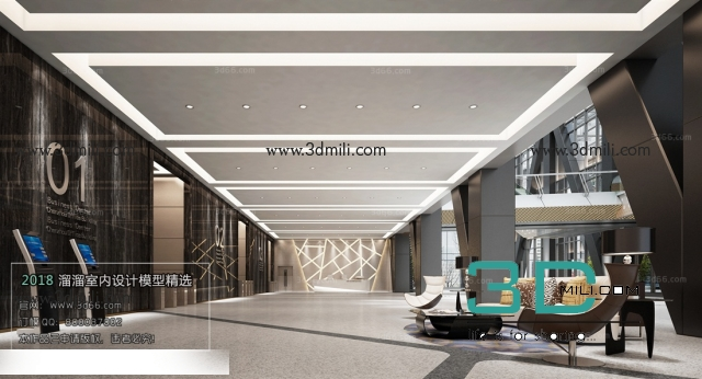 02  HOTEL RECEPTION FREE - 3D Mili - Download 3D Model