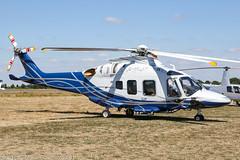 G-MLAP - 2016 build Leonardo AW169 at Turweston during the 2018 Britis