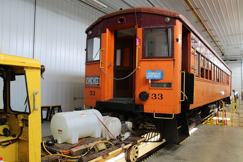 South Shore Car #33 in the new East Troy maintenance facility.