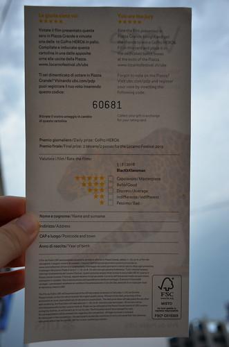 写真5 投票用紙