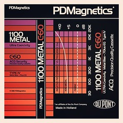 Cassettes: PD Magnetics (Dupont) 1100 Metal C60