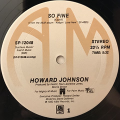 HOWARD JOHNSON:SO FINE(LABEL SIDE-A)