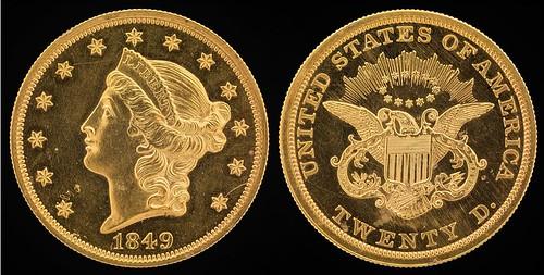1849 Liberty Head Double Eagle