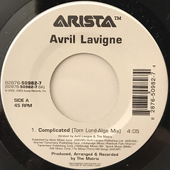 AVRIL LAVIGNE:COMPLICATED(LABEL SIDE-A)