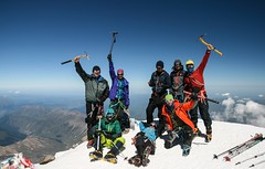 On top of mount Elbrus