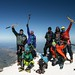 On the top of mount Elbrus