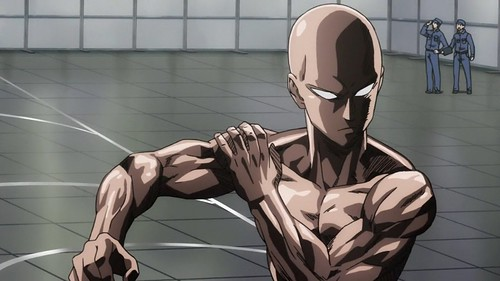 Saitama_being_serious