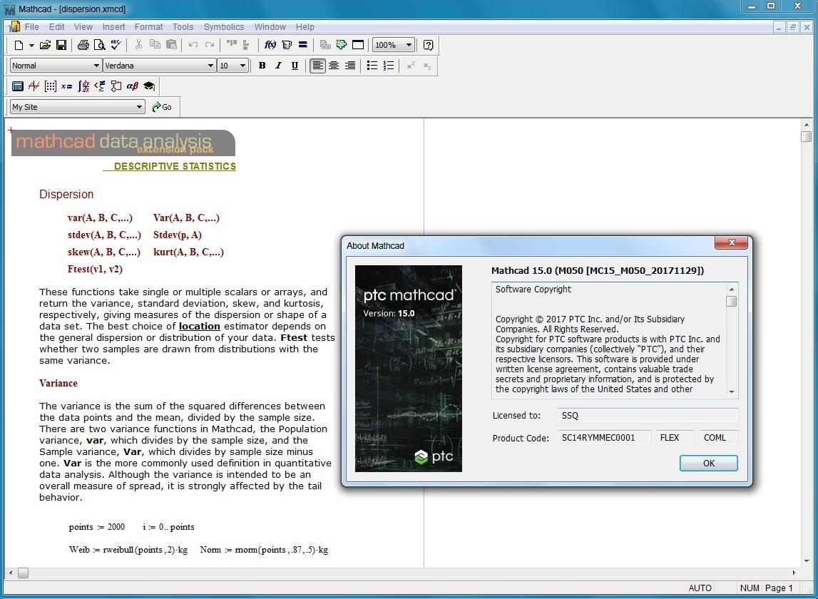 Working with PTC Mathcad v15.0 M050 full