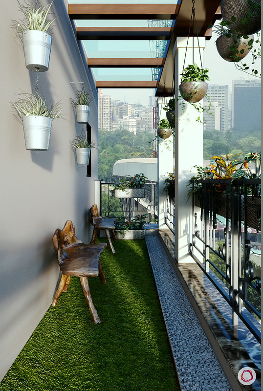 narrow balcony garden