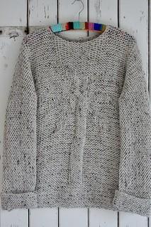 knitted palmtree sweater