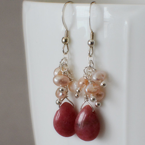Rhodochrosite and Pearls-1 square