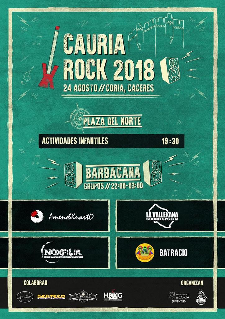 El Agosto Turístico acogerá, el 24 de agosto, la segunda edición del Festival Cauria Rock