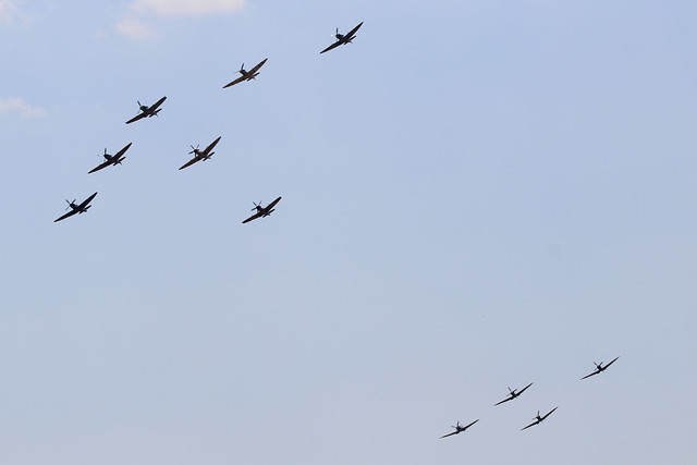 Supermarine Spitfires - Flying, Canon EOS 1200D, Tamron SP 150-600mm f/5-6.3 Di VC USD