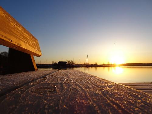 Frosty Bench Pier Sunrise ☺