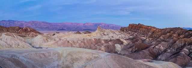Zabriskie Point, Death Valley Dawn Panorama