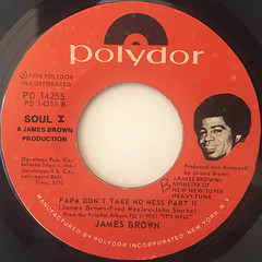 JAMES BROWN:PAPA DON'T TAKE NO MESS(LABEL SIDE-B)