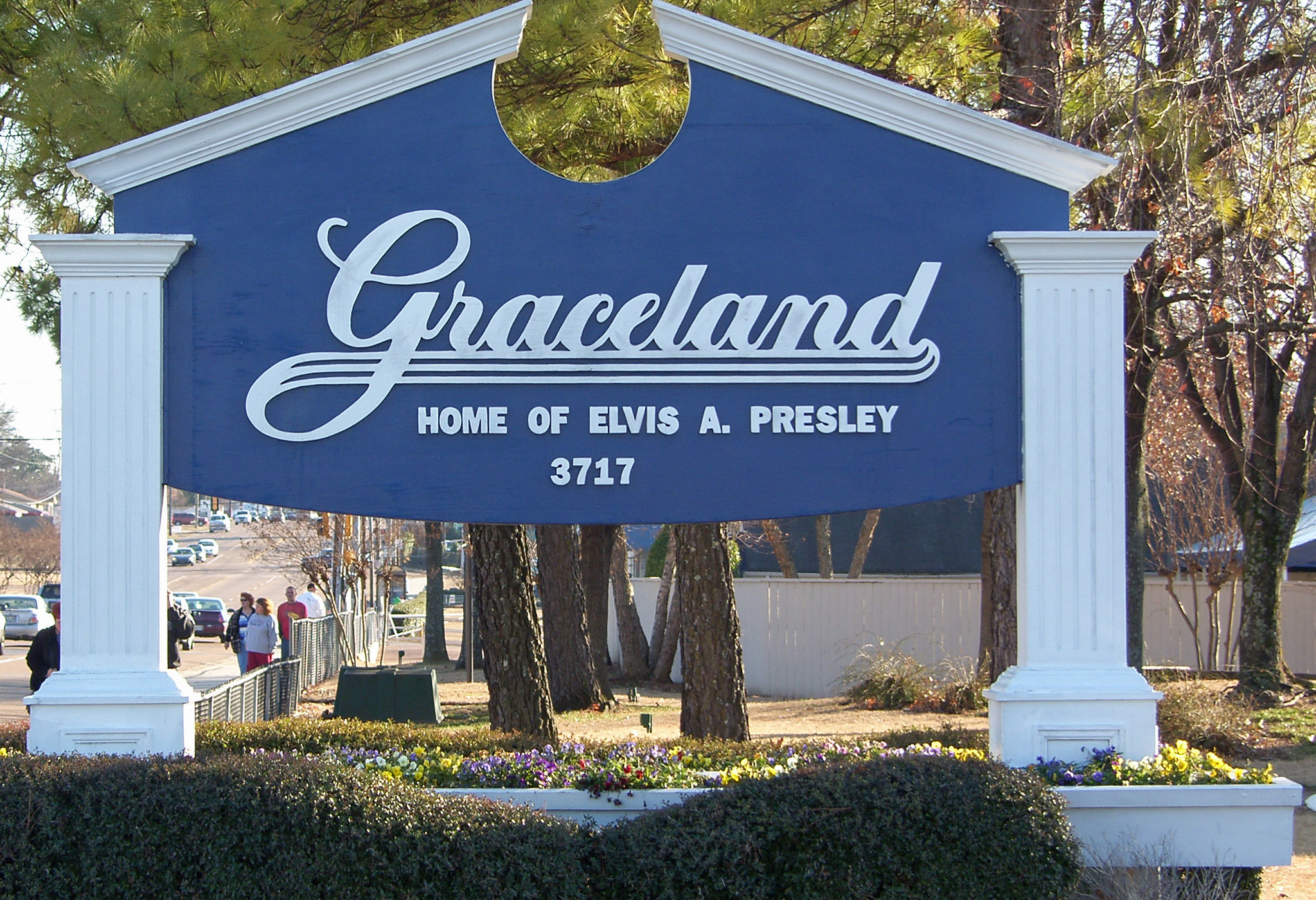Sign at Graceland in Memphis, Tennessee. Photo taken on January 26, 2011.