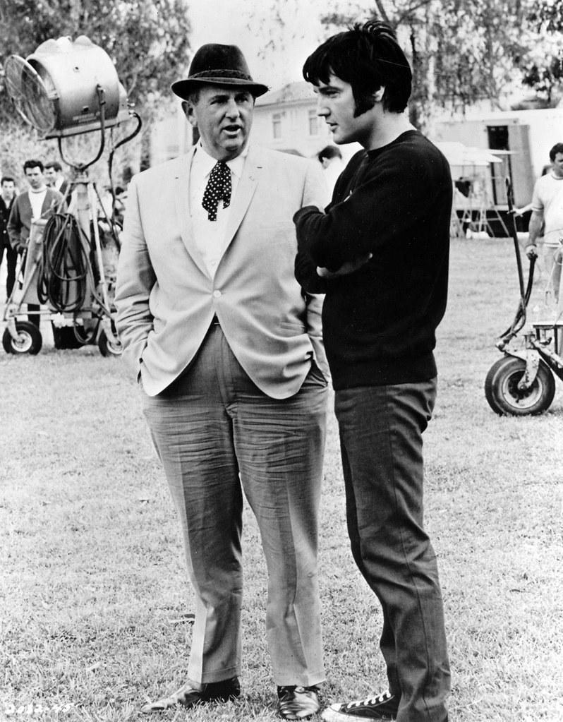 Elvis Presley and Colonel Tom Parker, 1969