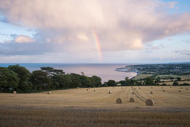 Rainbow over Greystones in, Panasonic DMC-GX7, LUMIX G VARIO 14-42/F3.5-5.6 II