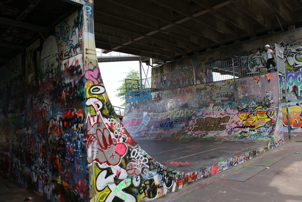 Rampe et street art à Grafittifun en face du camping Zeeburg Amsterdam.