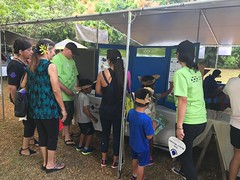 Employees from Hawaiian Electric volunteered at the 30th Annual Halawa Xeriscape Garden's Plant Sale: Employees ran a Keiki Booth and gave out cool prizes!