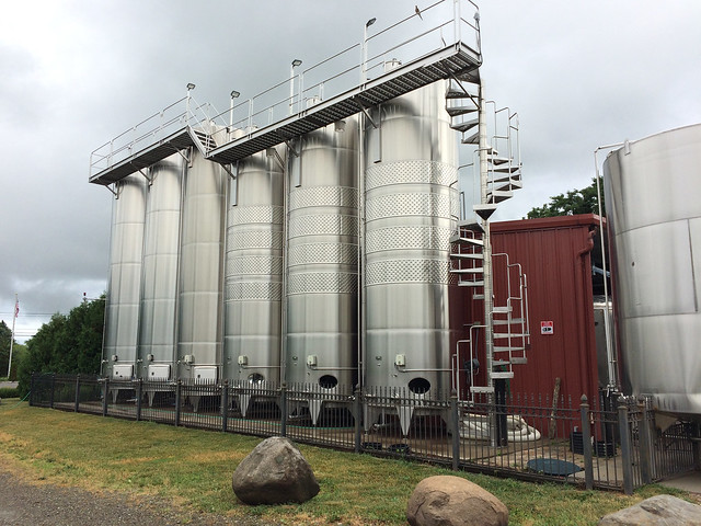 Johnson Estate Wine Holding Tanks