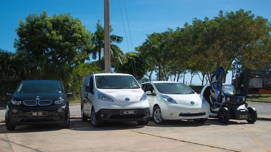 електричните автомобили на Карибите 1