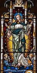Christ ascending (Cox & Son? 1876)
