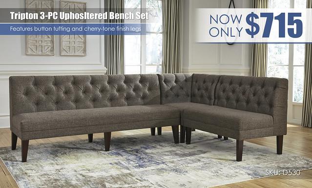 Tripton Upholstered Corner Bench Set_D530-07-08-09