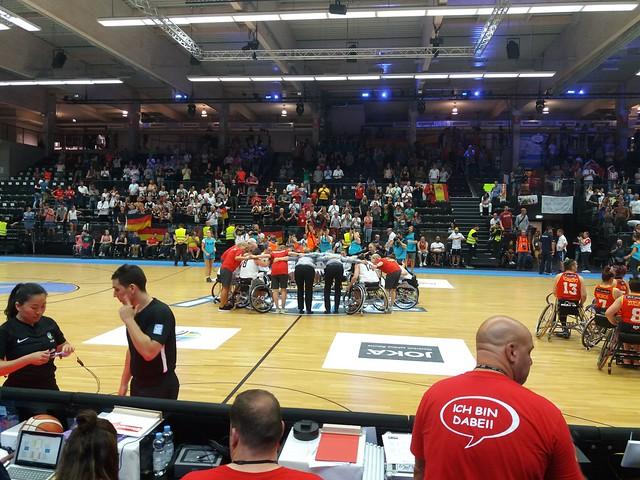 Deutschland - Spanien Rollstuhlbasketball WM 18