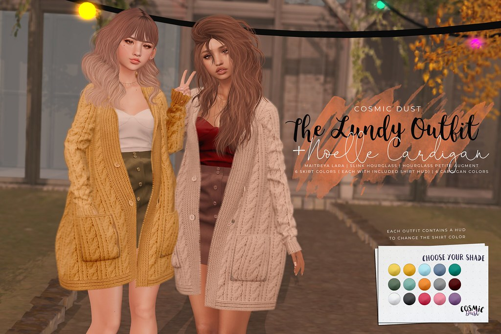 [Cosmic Dust] – Lundy Outfit + Noelle Cardigan @ Uber OPEN NOW