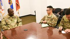 MG Cedric T. Wins meet ROTC cadets