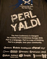 Just noticed that the Magnum logo has made its first ever appearance on a conference t-shirt