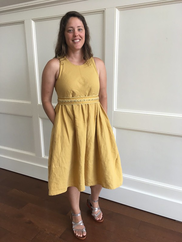 A Summer Dress:  McCall's 7774 in Yellow Linen