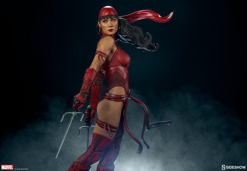 危險、性感、致命! Sideshow Collectibles Premium Format Figure 系列  Marvel【艾莉崔】Elektra 1/4 比例全身雕像作品