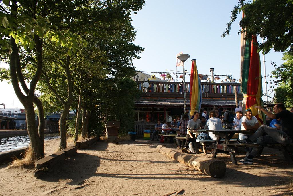 Terrasse du Hanneke's Boom à Amsterdam.